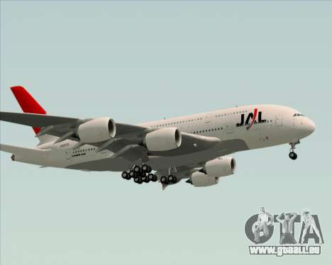 Airbus A380-800 Japan Airlines (JAL) für GTA San Andreas Seitenansicht