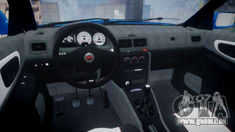 Subaru Impreza WRC 1998 World Rally v3.0 Green pour GTA 4 Vue arrière