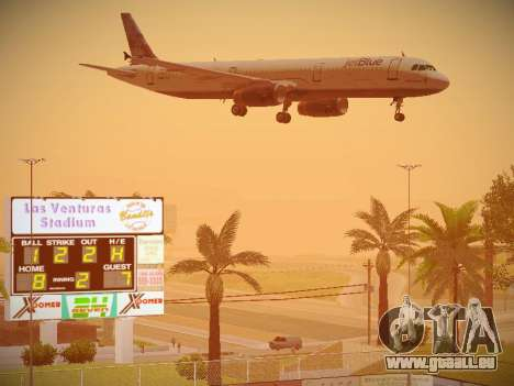 Airbus A321-232 jetBlue Do-be-do-be-blue pour GTA San Andreas vue de dessous