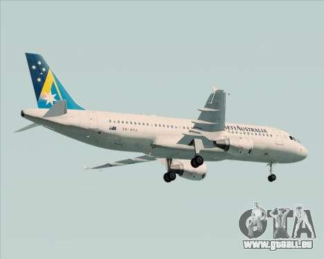 Airbus A320-200 Ansett Australia pour GTA San Andreas vue arrière