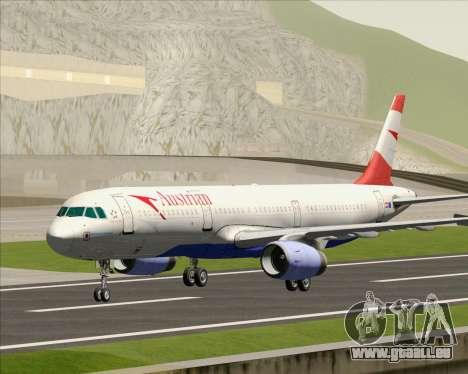 Airbus A321-200 Austrian Airlines pour GTA San Andreas laissé vue