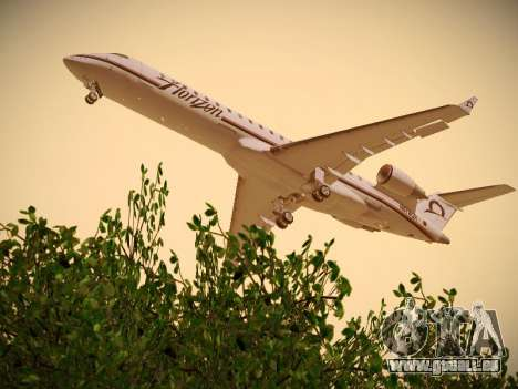 Bombardier CRJ-700 Horizon Air für GTA San Andreas rechten Ansicht