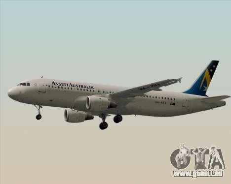 Airbus A320-200 Ansett Australia pour GTA San Andreas sur la vue arrière gauche