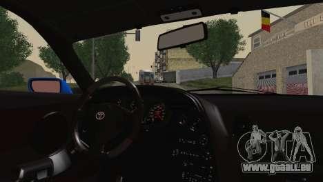 Toyota Supra Twin Turbo pour GTA San Andreas sur la vue arrière gauche