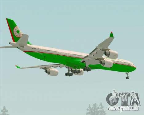 Airbus A340-600 EVA Air für GTA San Andreas Räder