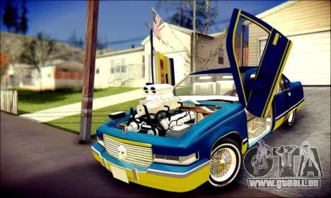 Cadillac Fleetwood 1993 Lowrider pour GTA San Andreas vue de dessus