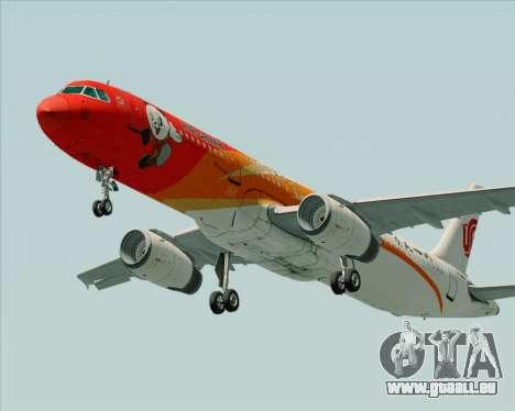 Airbus A321-200 Air China (Beautiful Sichuan) für GTA San Andreas linke Ansicht