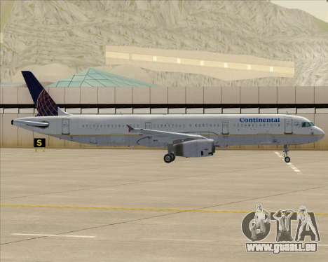 Airbus A321-200 Continental Airlines pour GTA San Andreas moteur