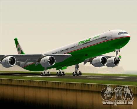 Airbus A340-600 EVA Air pour GTA San Andreas vue intérieure