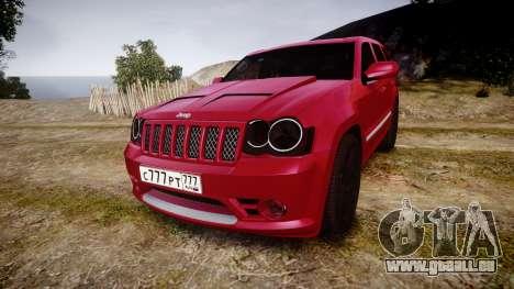 Jeep Grand Cherokee SRT8 license plates pour GTA 4