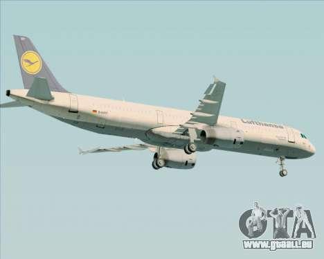 Airbus A321-200 Lufthansa pour GTA San Andreas vue de dessous