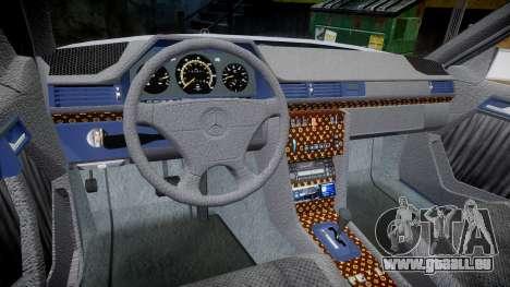 Mercedes-Benz E500 1998 Tuned Wheel Gold pour GTA 4 Vue arrière