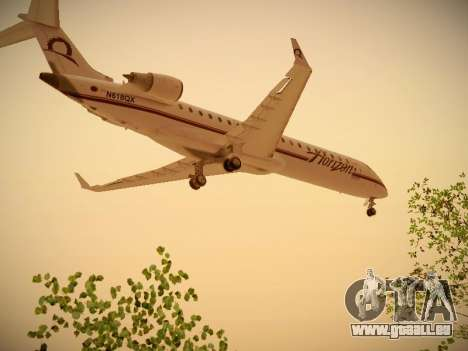 Bombardier CRJ-700 Horizon Air für GTA San Andreas zurück linke Ansicht