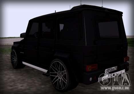 Brabus 800 pour GTA San Andreas sur la vue arrière gauche