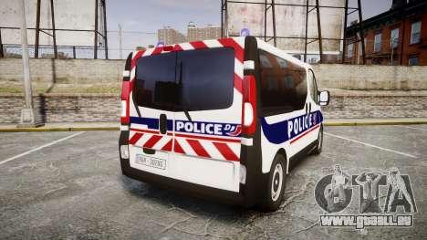 Renault Trafic Police Nationale pour GTA 4 Vue arrière de la gauche