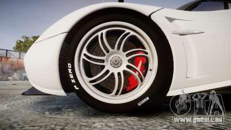 Pagani Huayra 2013 Carbon pour GTA 4 Vue arrière