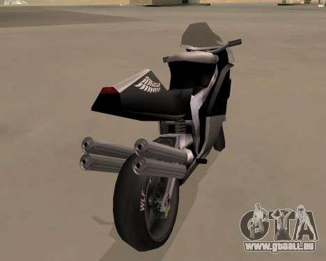 NRG-500 Winged Edition V.1 pour GTA San Andreas sur la vue arrière gauche