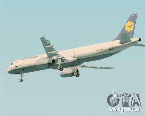 Airbus A321-200 Lufthansa für GTA San Andreas Rückansicht