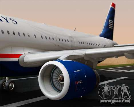 Airbus A321-200 US Airways für GTA San Andreas Motor