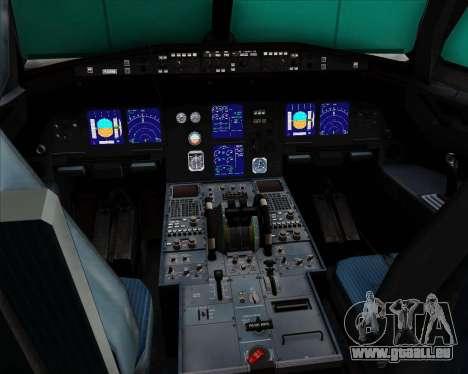 Airbus A321-200 Lufthansa für GTA San Andreas Innen