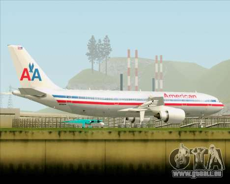 Airbus A300-600 American Airlines für GTA San Andreas obere Ansicht