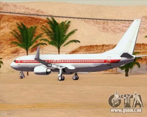 Boeing 737-800 EG&G - Janet für GTA San Andreas obere Ansicht