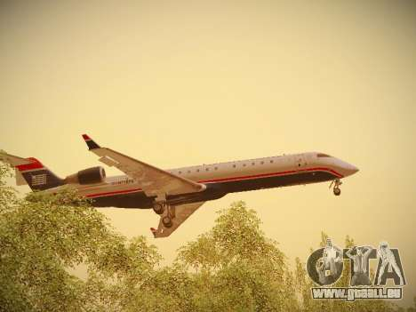 Bombardier CRJ-700 US Airways Express pour GTA San Andreas salon
