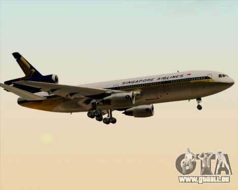 McDonnell Douglas DC-10-30 Singapore Airlines pour GTA San Andreas sur la vue arrière gauche