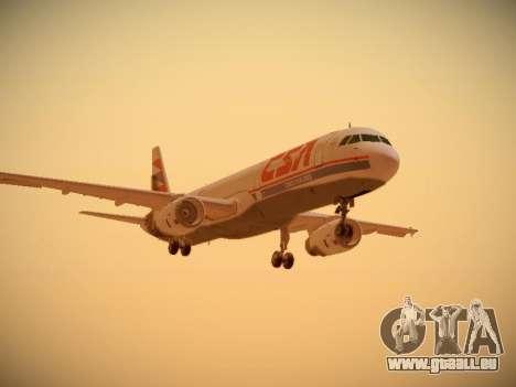 Airbus A321-232 Czech Airlines pour GTA San Andreas laissé vue