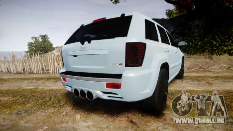 Jeep Grand Cherokee SRT8 stock für GTA 4 hinten links Ansicht