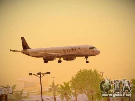 Airbus A321-232 Cyprus Airways pour GTA San Andreas vue de dessus