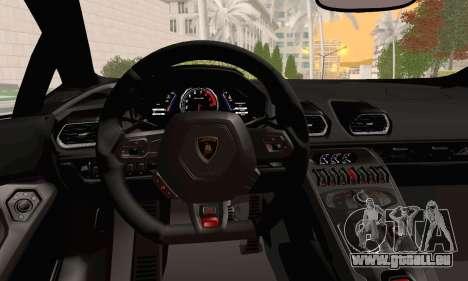 Lamborghini Huracan 2014 für GTA San Andreas rechten Ansicht