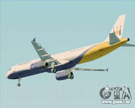 Airbus A321-200 Monarch Airlines pour GTA San Andreas vue de dessous