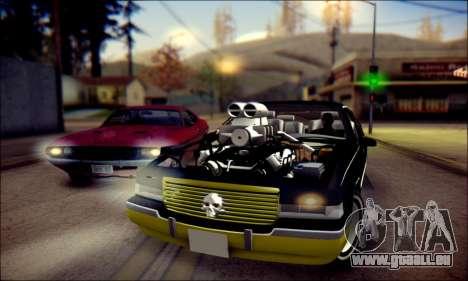 Cadillac Fleetwood 1993 Lowrider für GTA San Andreas linke Ansicht