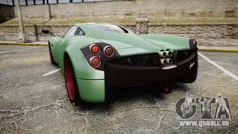 Pagani Huayra 2013 pour GTA 4 Vue arrière de la gauche