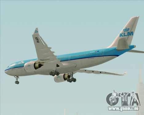 Airbus A330-200 KLM - Royal Dutch Airlines pour GTA San Andreas vue de côté
