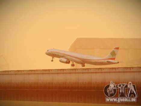 Airbus A321-232 Middle East Airlines für GTA San Andreas Unteransicht
