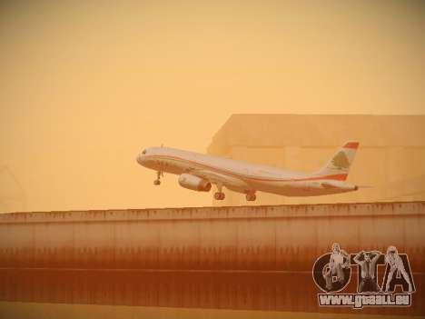 Airbus A321-232 Middle East Airlines pour GTA San Andreas vue de dessous