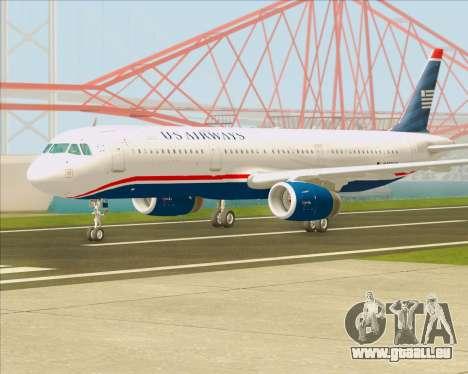 Airbus A321-200 US Airways für GTA San Andreas zurück linke Ansicht