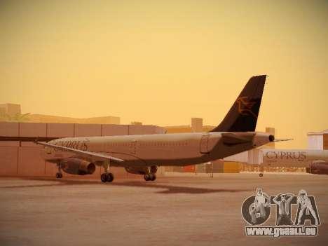 Airbus A321-232 Cyprus Airways pour GTA San Andreas sur la vue arrière gauche