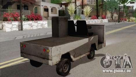 Umbrella Cart pour GTA San Andreas sur la vue arrière gauche