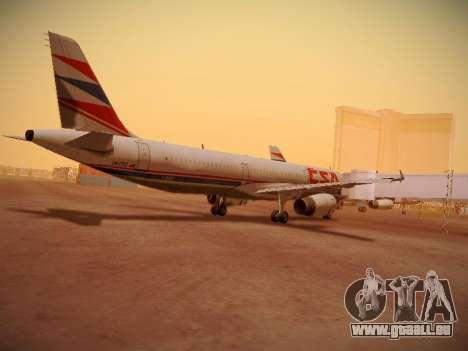Airbus A321-232 Czech Airlines für GTA San Andreas Innenansicht