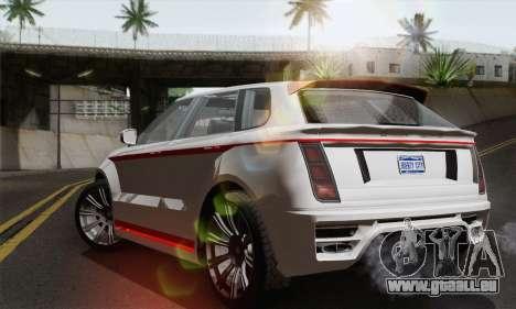 Huntley S pour GTA San Andreas laissé vue