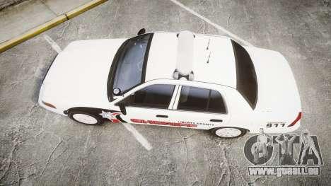Ford Crown Victoria LC Sheriff [ELS] pour GTA 4 est un droit