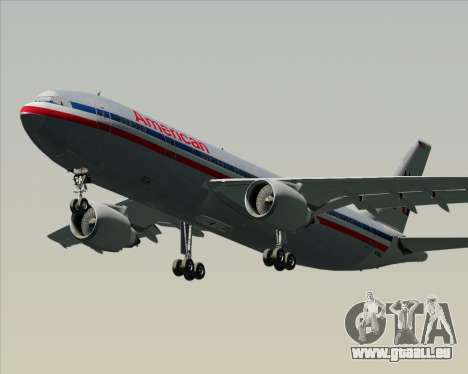 Airbus A300-600 American Airlines für GTA San Andreas linke Ansicht