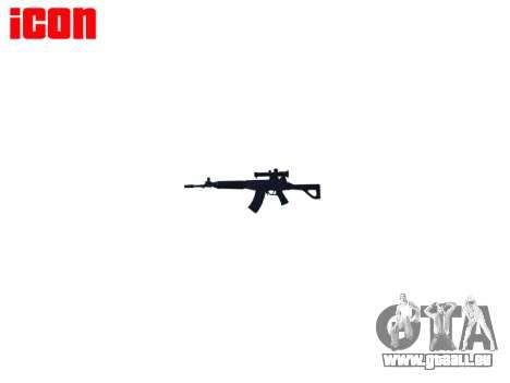 Maschine QBZ-03-1 für GTA 4 dritte Screenshot