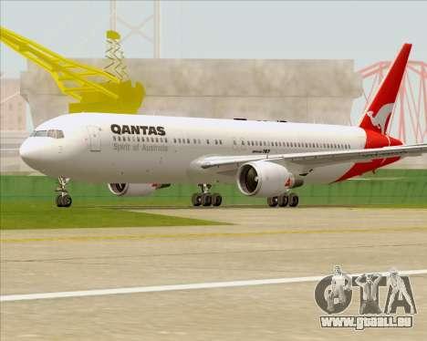 Boeing 767-300ER Qantas (Old Colors) pour GTA San Andreas vue de dessus
