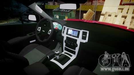Jeep Grand Cherokee SRT8 license plates pour GTA 4 Vue arrière