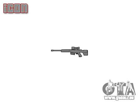 Gros calibre fusil de sniper pour GTA 4 troisième écran