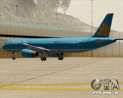 Airbus A321-200 Vietnam Airlines für GTA San Andreas Räder